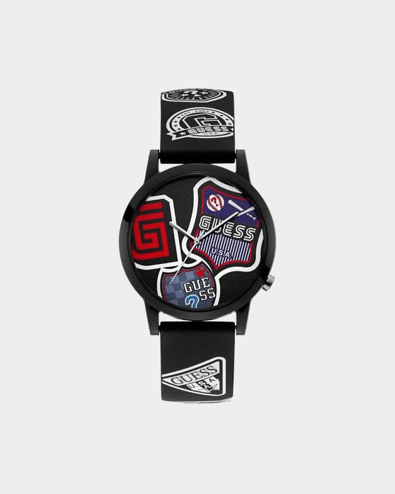 Guess Originals Letterman Watch Black/Red