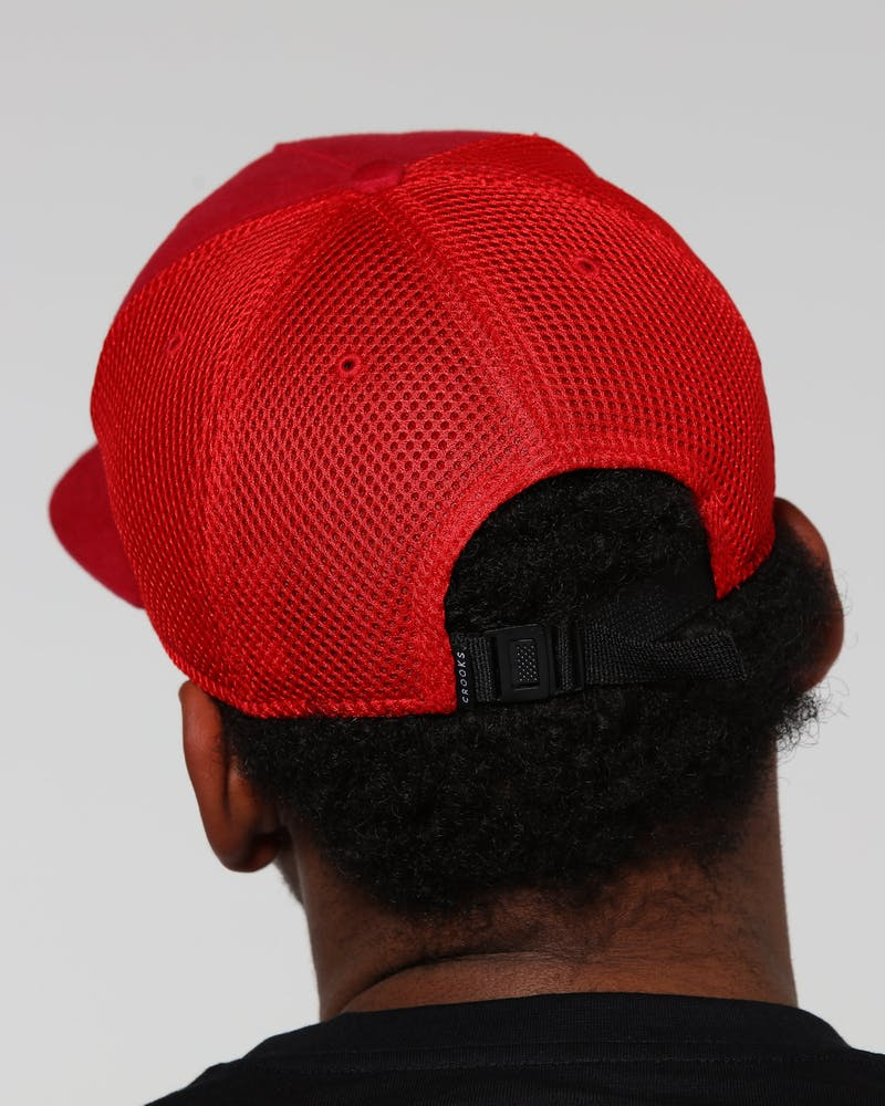 Crooks & Castles Metal Badge Strapback Red