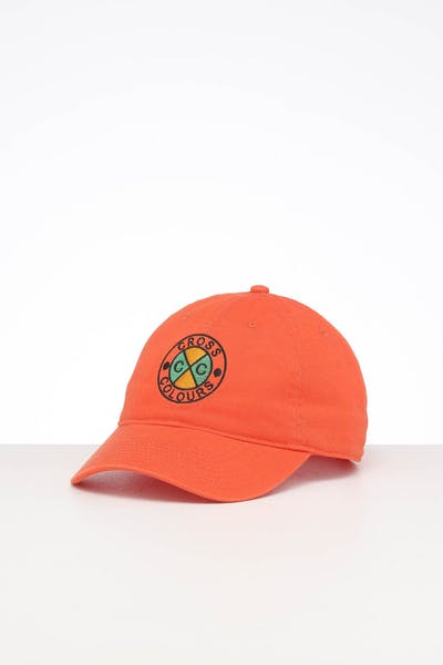 Cross Colours LA Classic Embroidered Dad Hat Orange