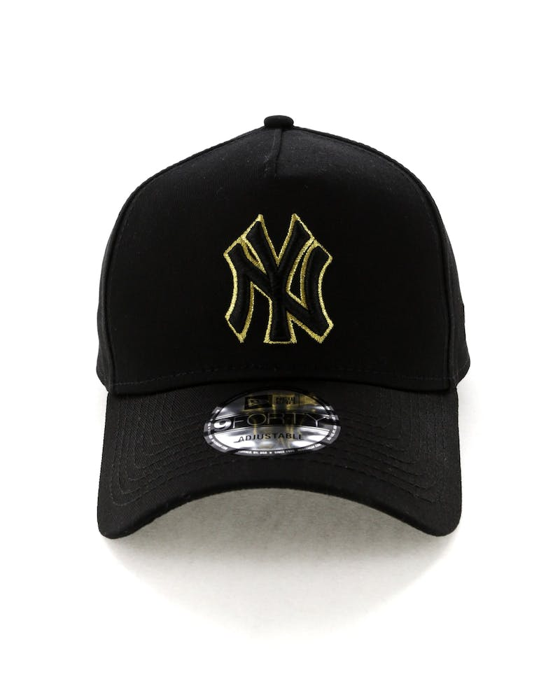 New Era New York Yankees 9FORTY A-Frame Snapback Outline Black/Gold
