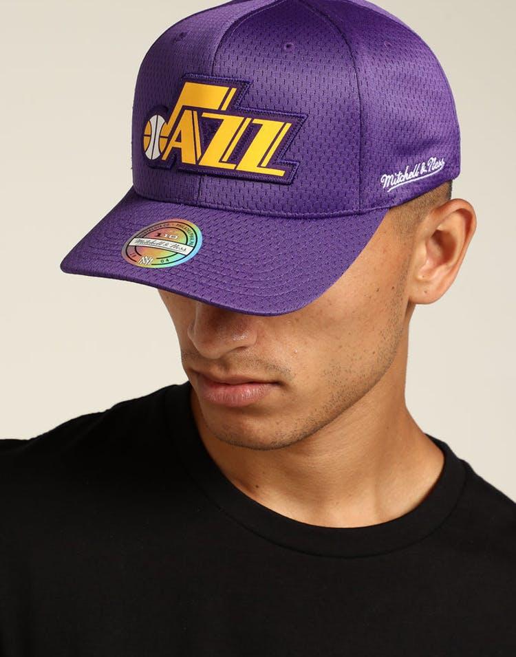 b7e2ced79735b3 Mitchell & Ness Utah Jazz Icon 110 Snapback Purple – Culture Kings NZ