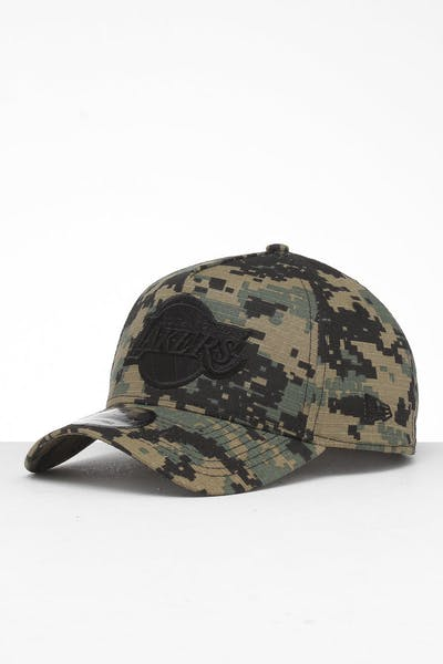 New Era Los Angeles Lakers 9FORTY A-Frame Snapback Digi Camo/Black