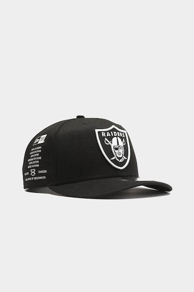 Raiders Side Cont 9FIFTY High Crown Precurved Snapback