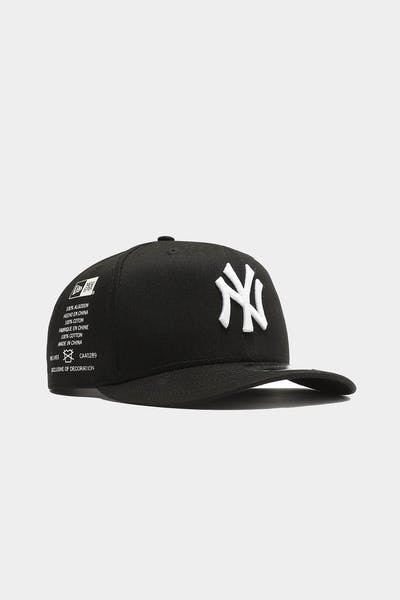 New York Yankees Side Cont 9FIFTY High Crown Precurved Snapback