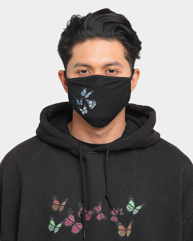 Goat Crew Butterfly Face Mask Black/Blue