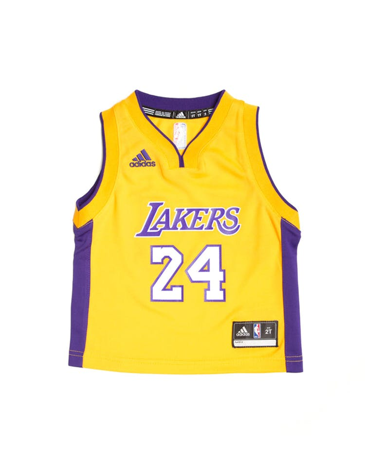 quality design 6fb52 fd7f8 Adidas Los Angeles Lakers Home Toddler Jersey Kobe Bryant #24 Gold