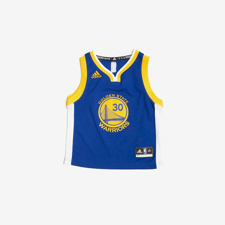 84216fbda66 Adidas Golden State Warriors Road Toddler Jersey Stephen Curry 30 Blue –  Culture Kings NZ
