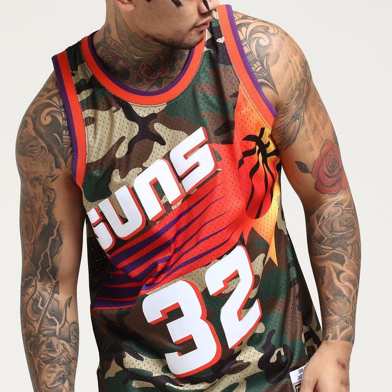 newest 4bc66 f8ff9 Mitchell & Ness Chicago Phoenix Suns Jason Kidd #32 Swingman NBA Jersey Camo