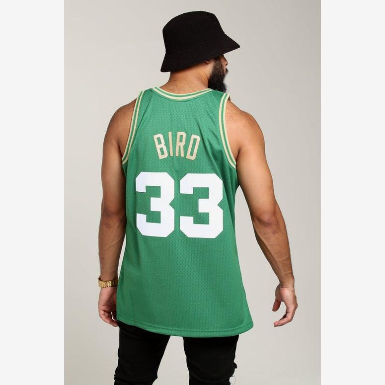0dae6e9ae8e Mitchell   Ness Boston Celtics Larry Bird  33 Chinese NY Jersey Green