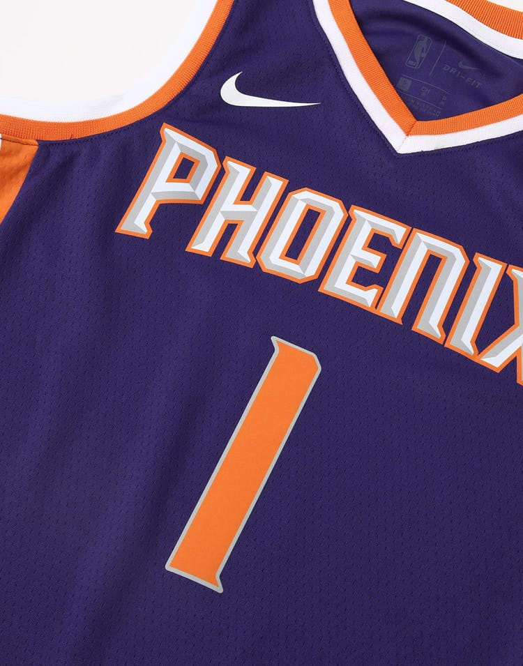 f3cc3b2fc Nike Kids Phoenix Suns Devin Booker  1 Statement Swingman NBA Jersey Purple