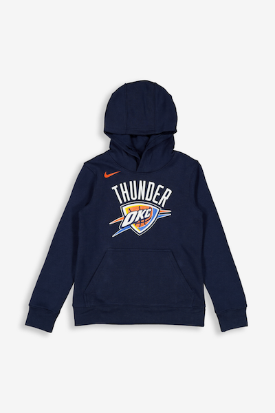 Nike Kids Oklahoma City Thunder Logo Essential Pull Over Hood Navy