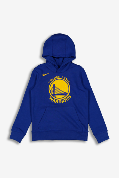 Nike Kids Golden State Warriors Logo Essential Pull Over Hood Royal
