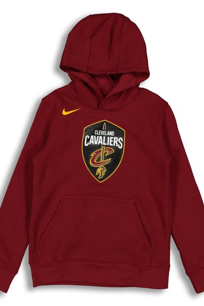 NIKE KIDS Cleveland Cavaliers LOGO ESSENTIAL PULL OVER HOOD Burgundy