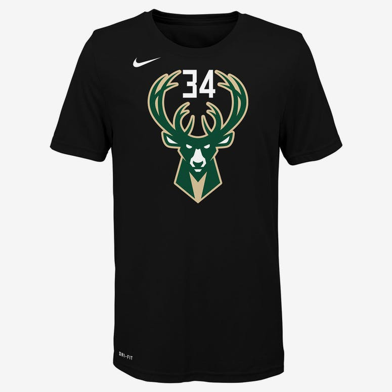 dabbf98752f Nike Boys Milwaukee Bucks Giannis Antetokounmpo  34 Statement N N Tee Black