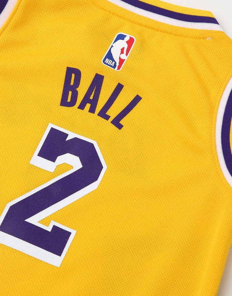 5fe93d9930e Nike Infant Los Angeles Lakers Lonzo Ball #2 Replica Onesie NBA Jersey  Yellow