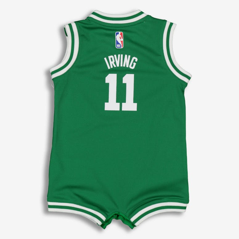 online store ee834 b3576 Nike Infant Boston Celtics Kyrie Irving  11 Replica Onesie NBA Jersey Green