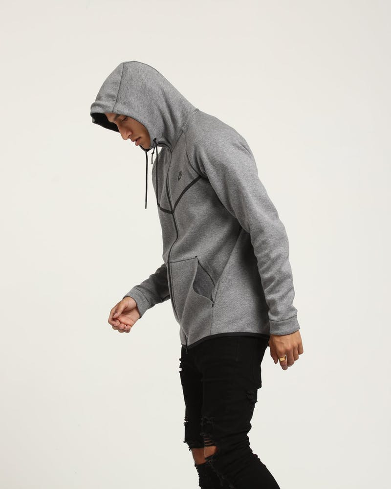 Nike Tech Fleece Windrunner Hood Dark Grey/Black