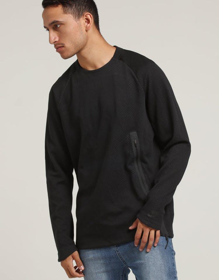 22d28619c Nike Sportswear Tech Fleece Crew Black/Black – Culture Kings NZ