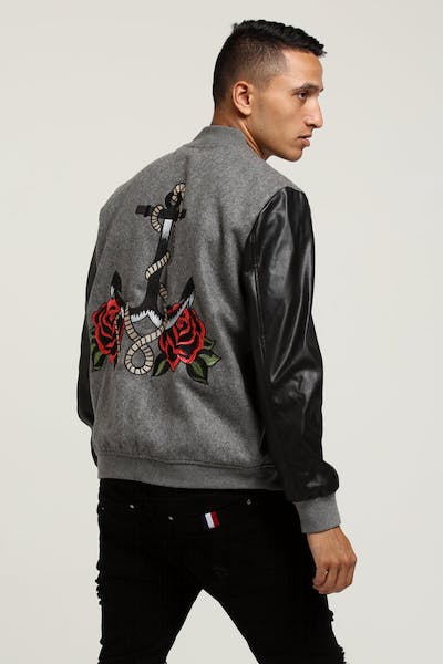 Lifted Anchors Windsor Jacket Grey