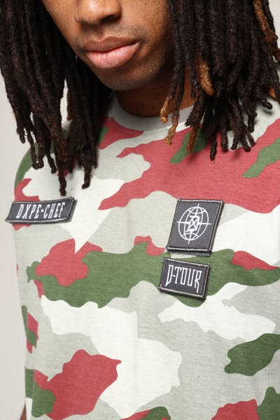 DXPE Chef Coloured Camo Detach Logo Tee Multi-Coloured