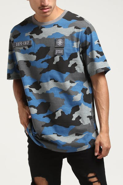 DXPE Chef Coloured Camo Detach Logo Tee Blue
