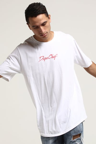 DXPE Chef Signature Pastel Curved Tee White