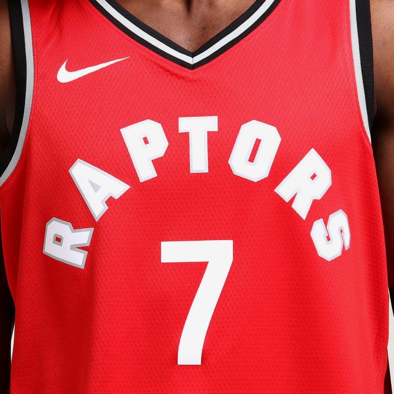 3b3f72bf439 Kyle Lowry  2 Toronto Raptors Nike Icon Edition Swingman Jersey Red Black