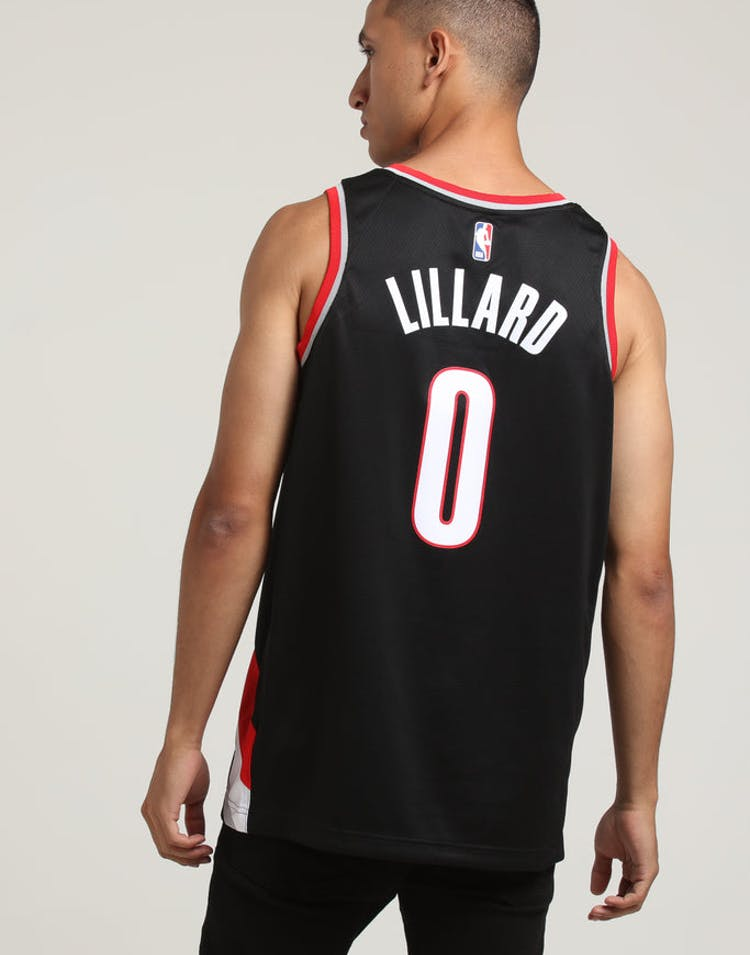 ad0883a59f6 Damian Lillard #0 Portland Trailblazers Nike Icon Edition Swingman Jersey  Black