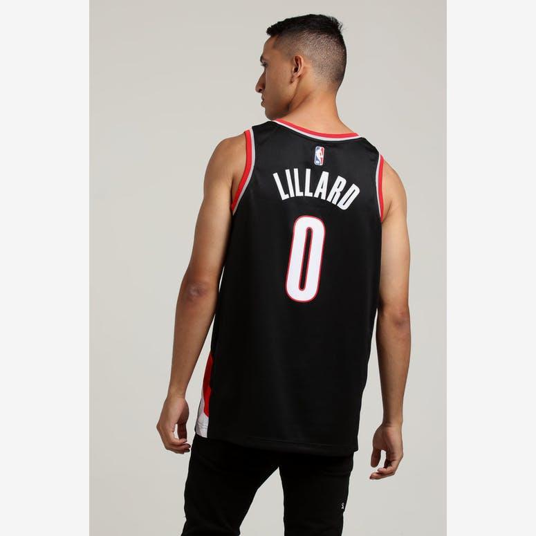 Damian Lillard  0 Portland Trailblazers Nike Icon Edition Swingman Jersey  Black ca411c9e2