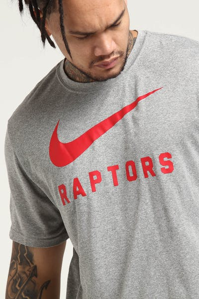 Toronto Raptors Nike Dry Tee Grey Heather