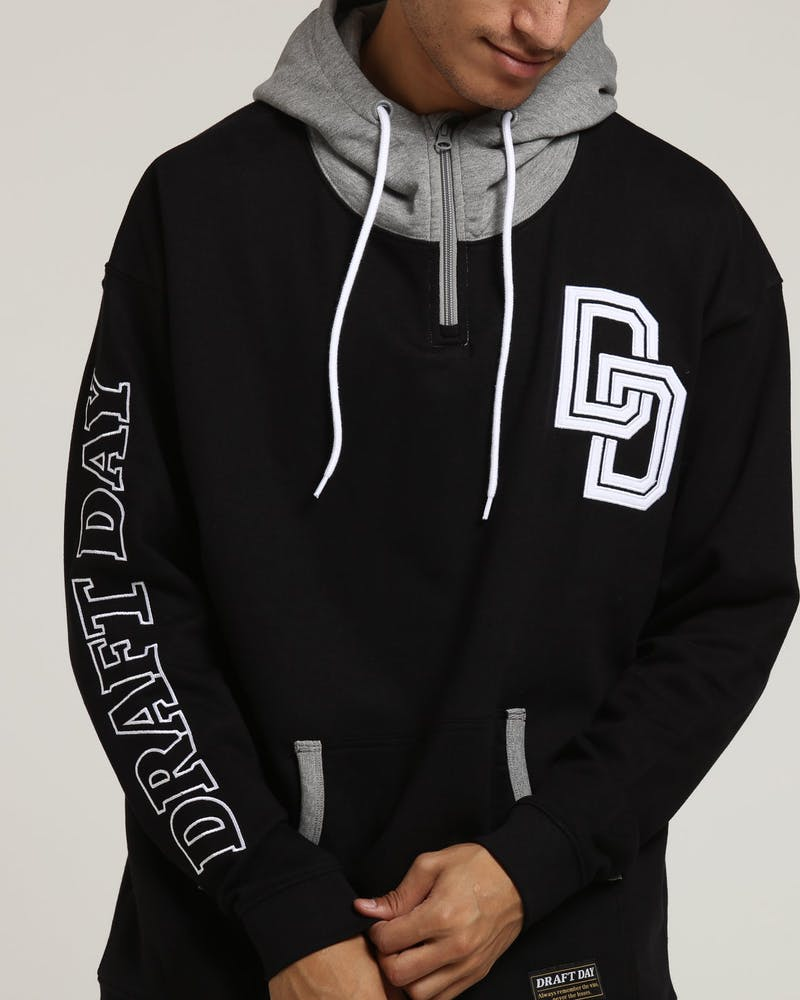 Draft Day Offence Hood Black/Grey