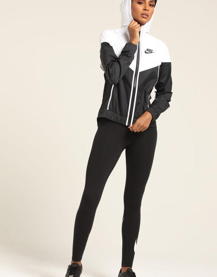 967fe8e078cc Nike Women s Windrunner Jacket Black White Black – Culture Kings NZ