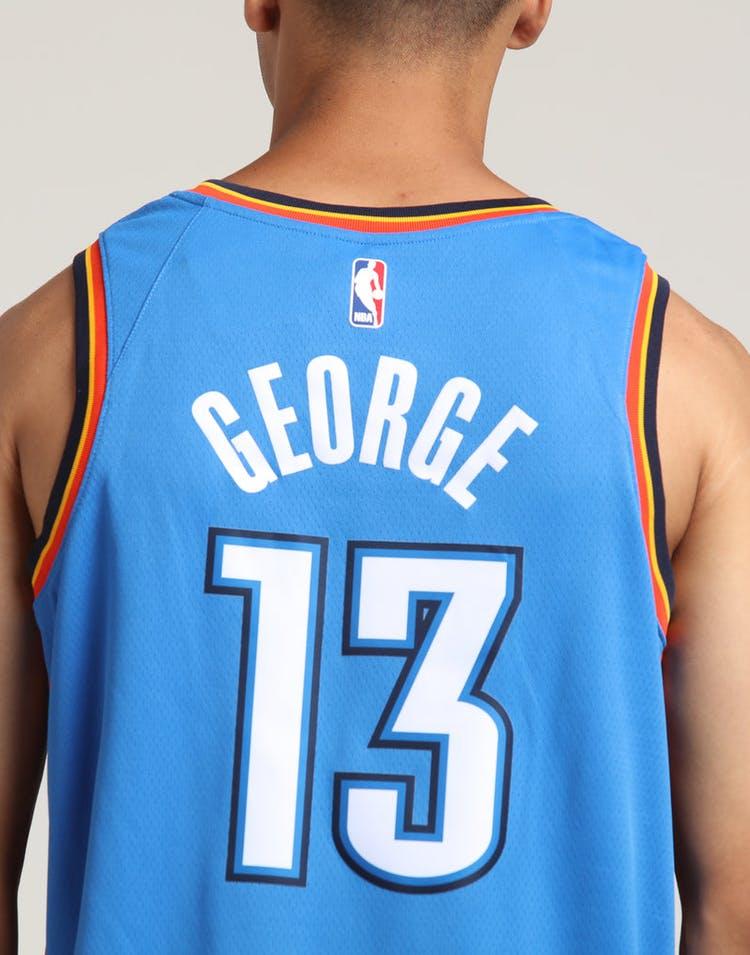 7d871ad79c1 Paul George  13 Oklahoma City Thunder Nike Icon Edition Swingman Jersey  Blue Navy