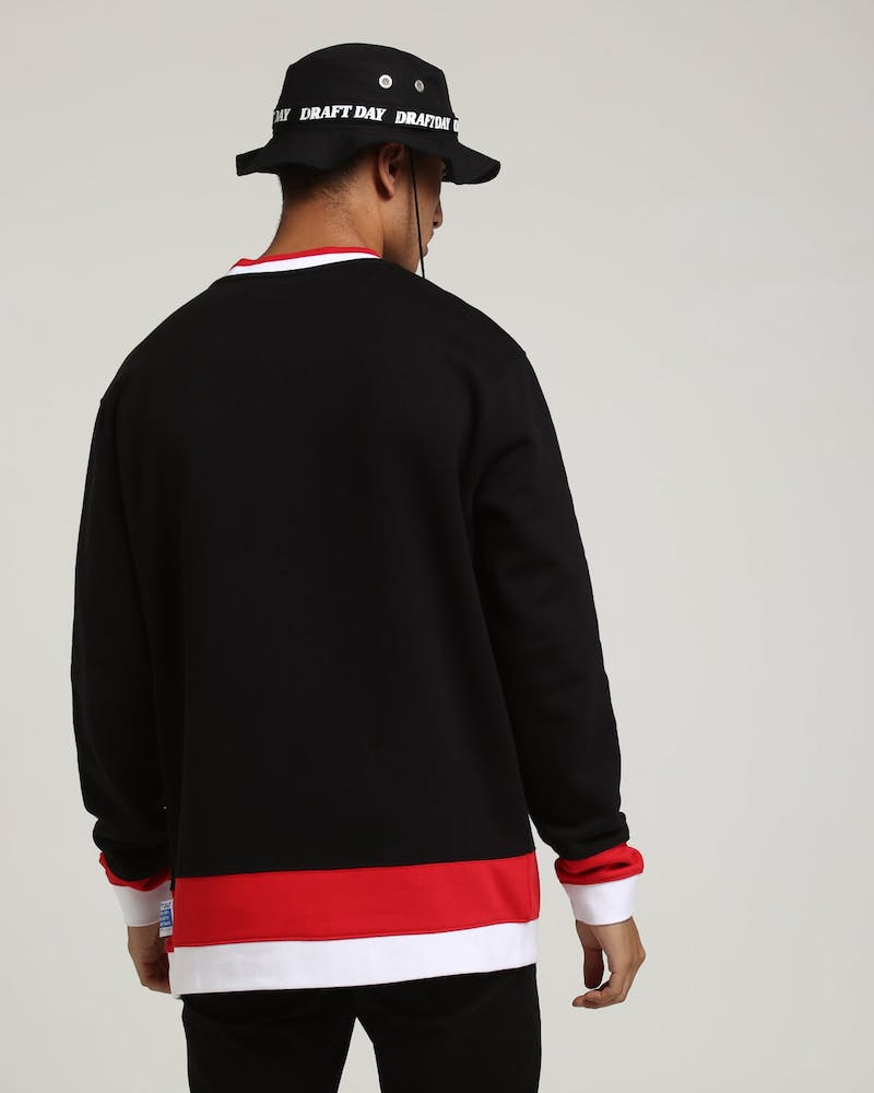 Draft Day Goalie Crewneck Black/Red/White