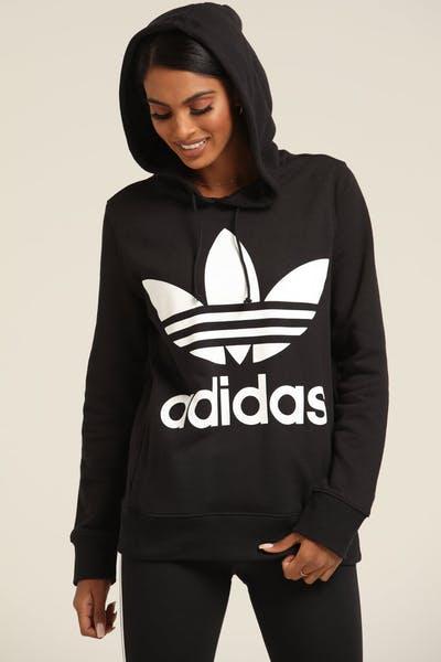 acab3e71b527 Adidas Women s Trefoil Hoodie Black