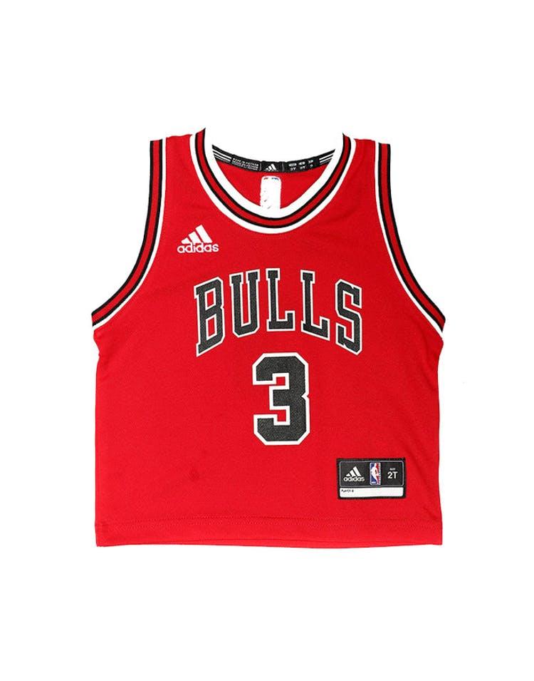 new concept b0a08 b26d0 Adidas Toddler Chicago Bulls Jersey Dwyane Wade #3 Red