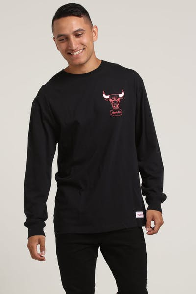 Mitchell & Ness Bulls Triple Double Long Sleeve Black