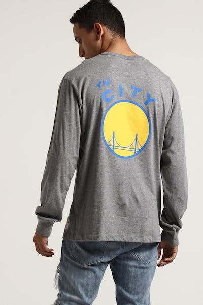 Mitchell & Ness Warriors Triple Double Long Sleeve Grey