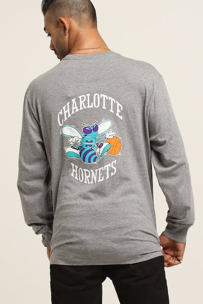 Mitchell & Ness Hornets Triple Double Long Sleeve Grey