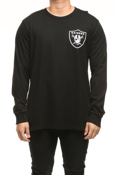 Majestic Athletic Oakland Raiders Vigar LS Tee Black/White