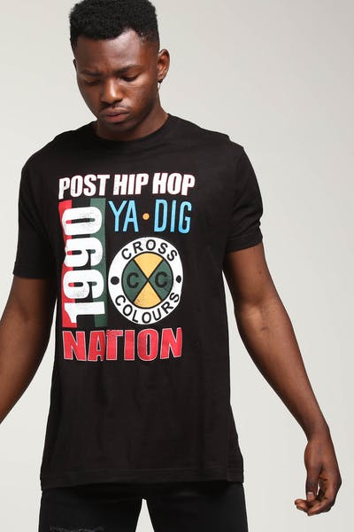 Cross Colours LA Post Hip-Hop Nation T-Shirt Black