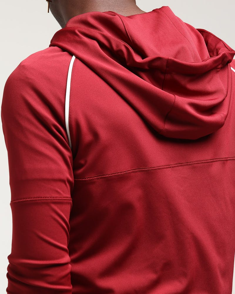 Sik Silk Zip Through Zonal Track Top Red