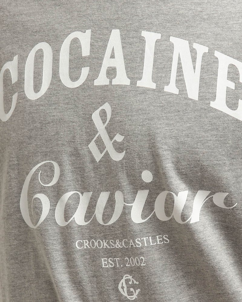 Crooks & Castles Coca & Caviar Knit SS Tee Heather White