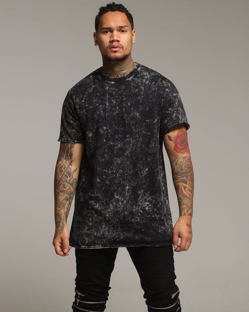 New Slaves Acid Wash Tee Black Acidwash