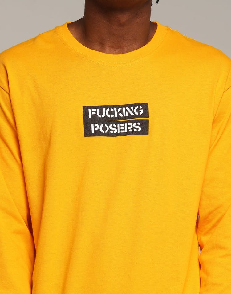 Los Angeles RadYo! Fxcking Posers LS Tee Gold