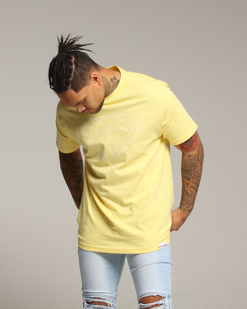 Diamond Supply Brilliant Tee Pastel Yellow