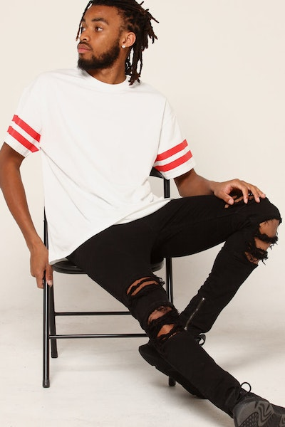 New Slaves Parallax Tee White/Red