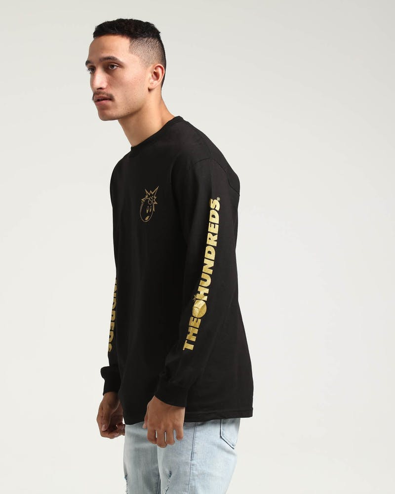 The Hundreds Gold Simple Adam LS Tee Black