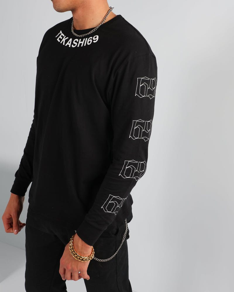 Tekashi 69 Arched LS Tee Black
