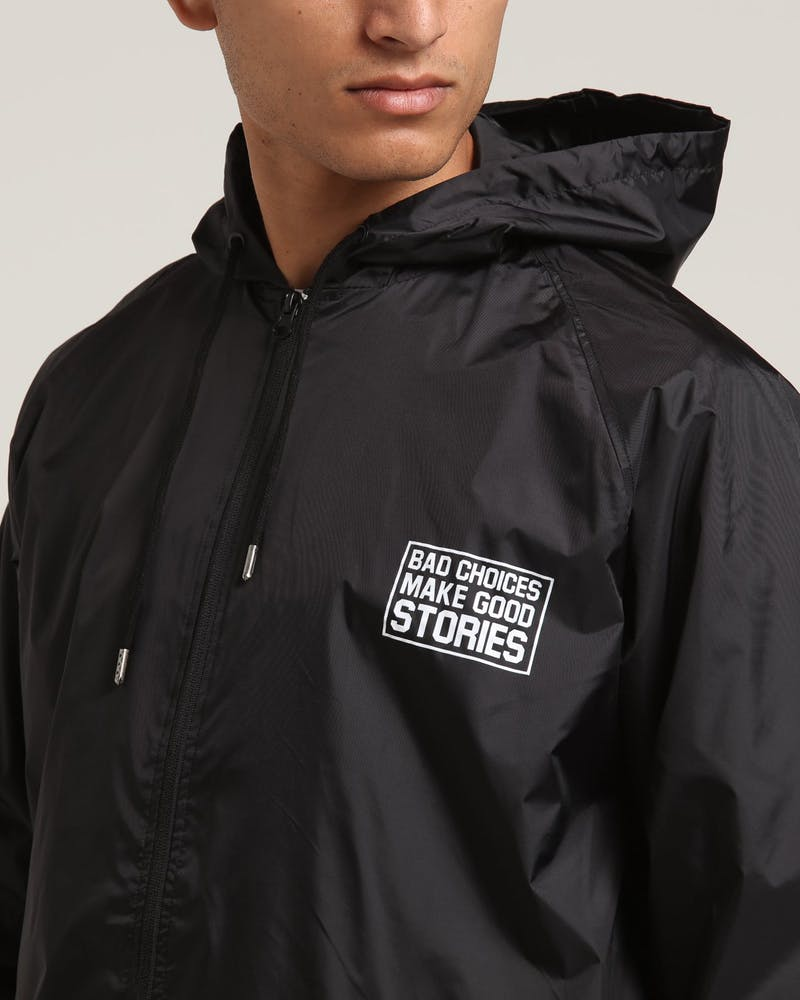 Goat Crew Bad Choices Good Stories Windbreaker Black